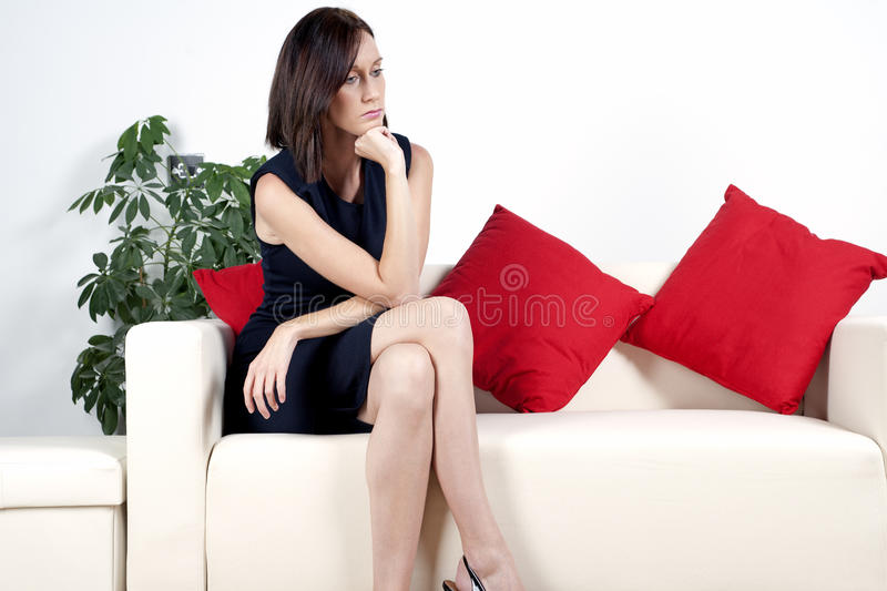 Young Woman In Smart Dress Stock Images