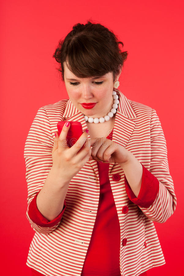 Download Young Woman With Smart Phone Stock Image - Image: 26149613