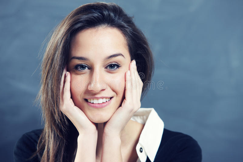 Download Young woman smiling stock image. Image of adult, happiness - 23912065