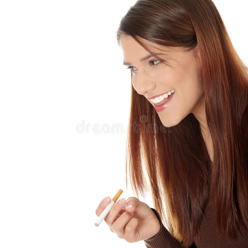 Download Young Woman Smoking Electronic Cigarette Stock Image - Image: 17509941