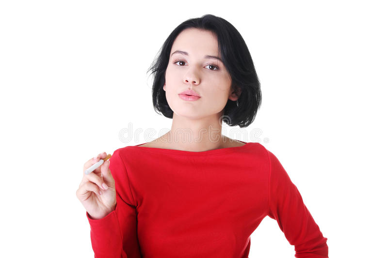 Download Young Woman Smoking Electronic Cigarette -ecigarette Stock Image - Image: 28393539