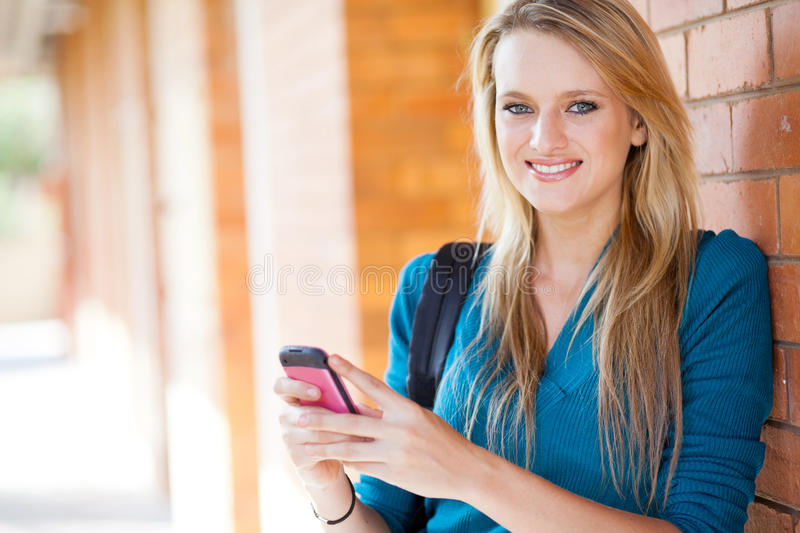 Download Young woman sms stock image. Image of beauty, female - 25855877