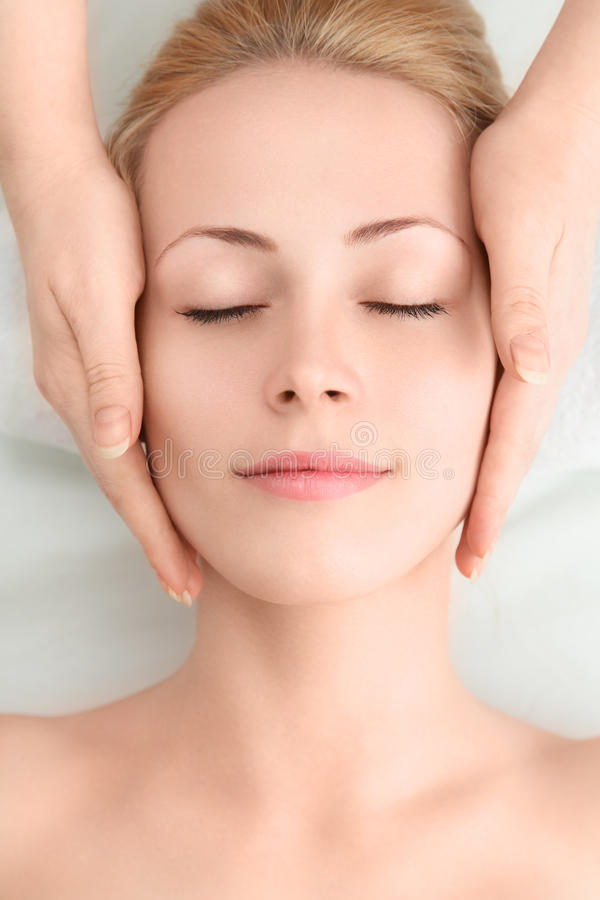 Young woman in SPA stock photo
