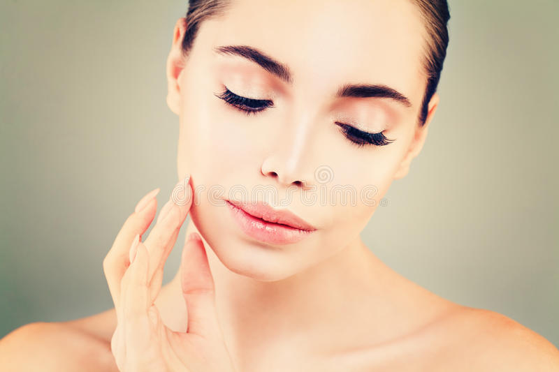 Young Woman Spa Model, Skin Care royalty free stock photo