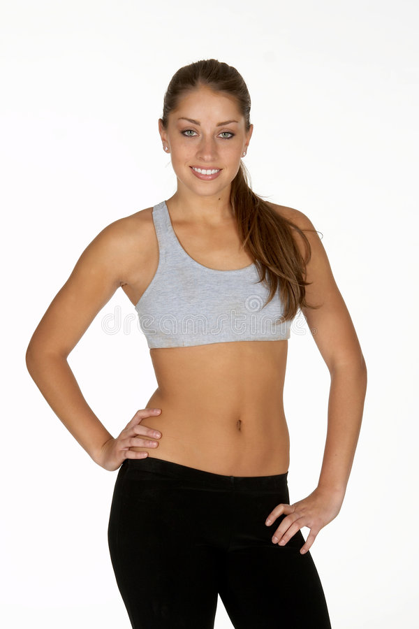 Download Young Woman In Sports Bra And Tights Stock Image - Image: 978595