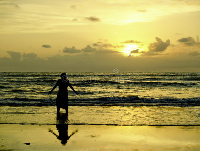 Download Looking for the sunrise stock photo. Image of pray, ocean - 29923414