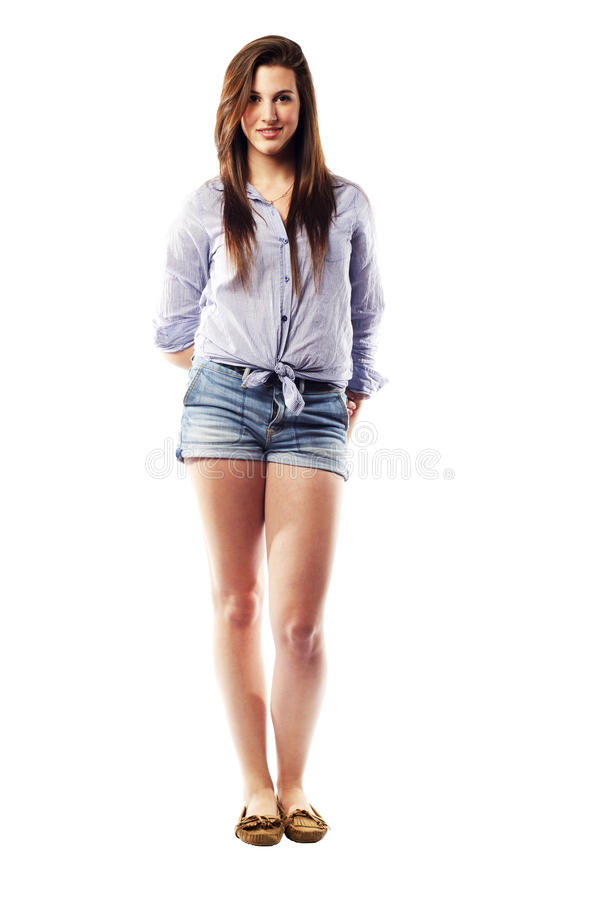 Download Young Woman Standing Casually Stock Image - Image: 26393651