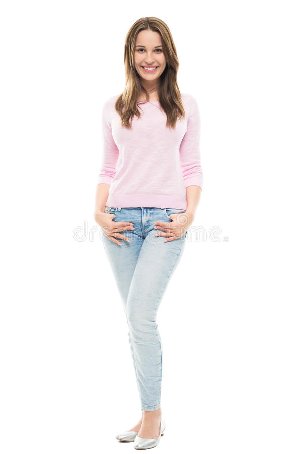 Young woman standing royalty free stock photography