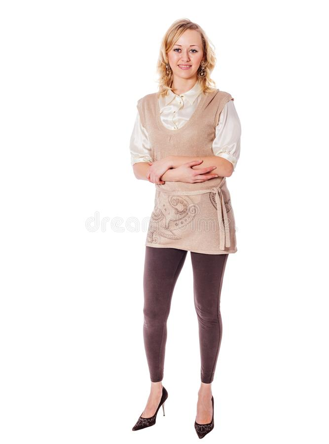 Young woman standing stock photography