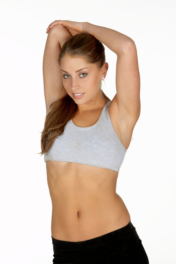 Download Young Woman Stretching Tricep Stock Image - Image: 978599