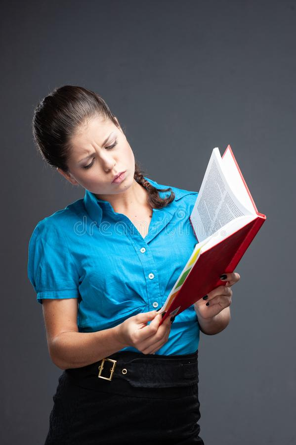 Young Woman Student architect holding books stock image