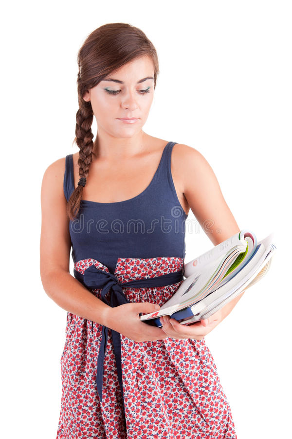Young woman studying royalty free stock images