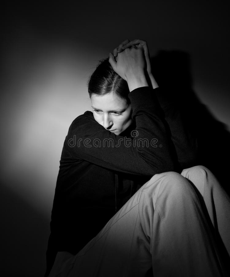 Young Woman Suffering Stock Photography