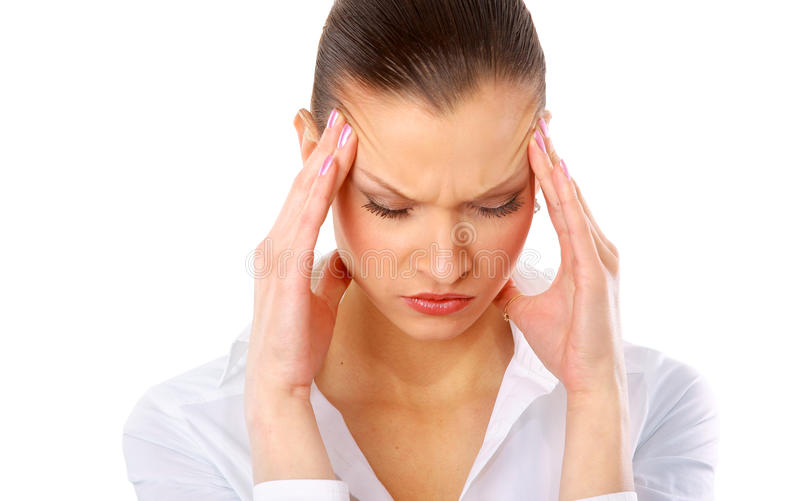 Download Young Woman Suffering A Headache Stock Photo - Image: 12259986