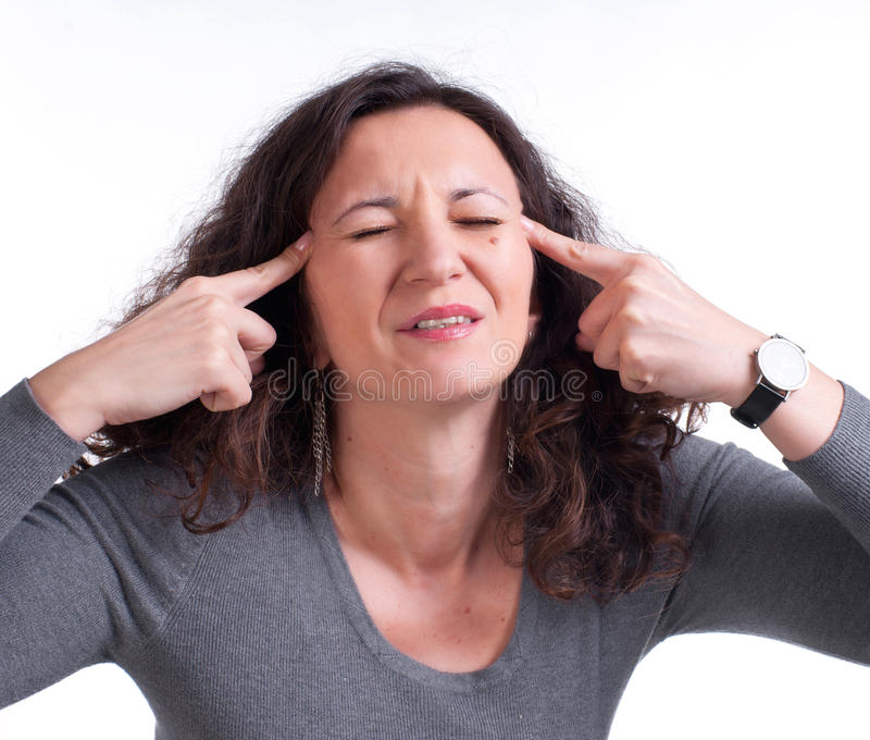 Download Young Woman Suffering From A Terrible Headache Stock Photo - Image: 29180376