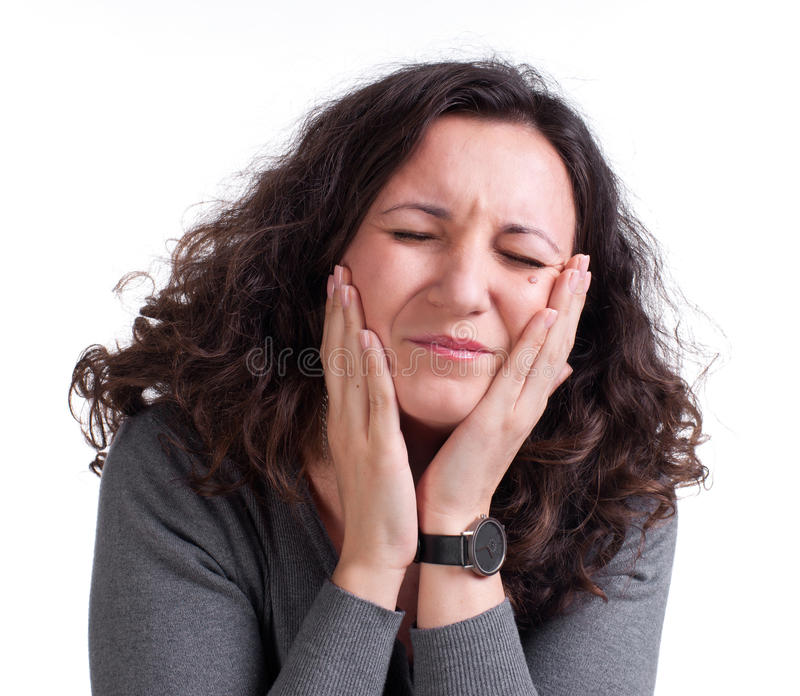 Young Woman Suffering From A Toothache Royalty Free Stock Image