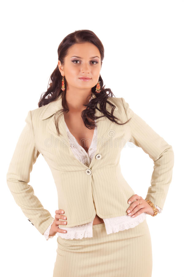 Young woman in suit royalty free stock photos