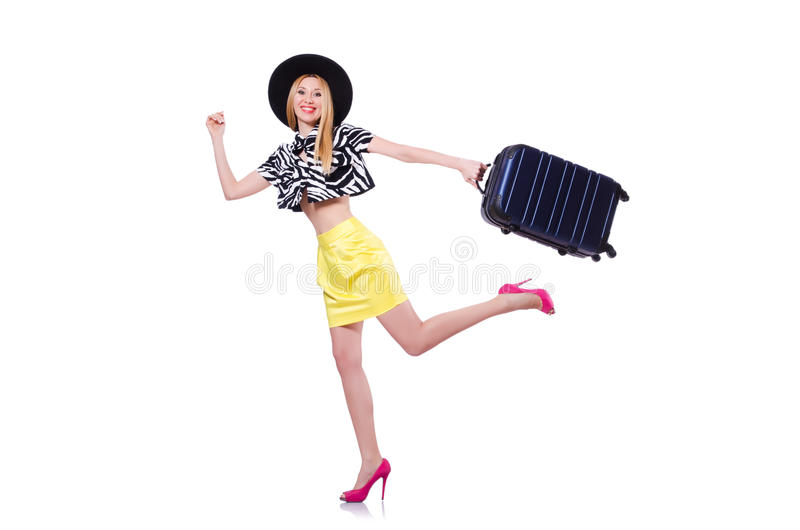 Download Young Woman With Suitcase Stock Images - Image: 30346354