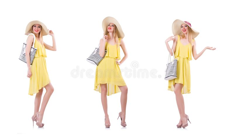 Young woman in summer clothing stock image