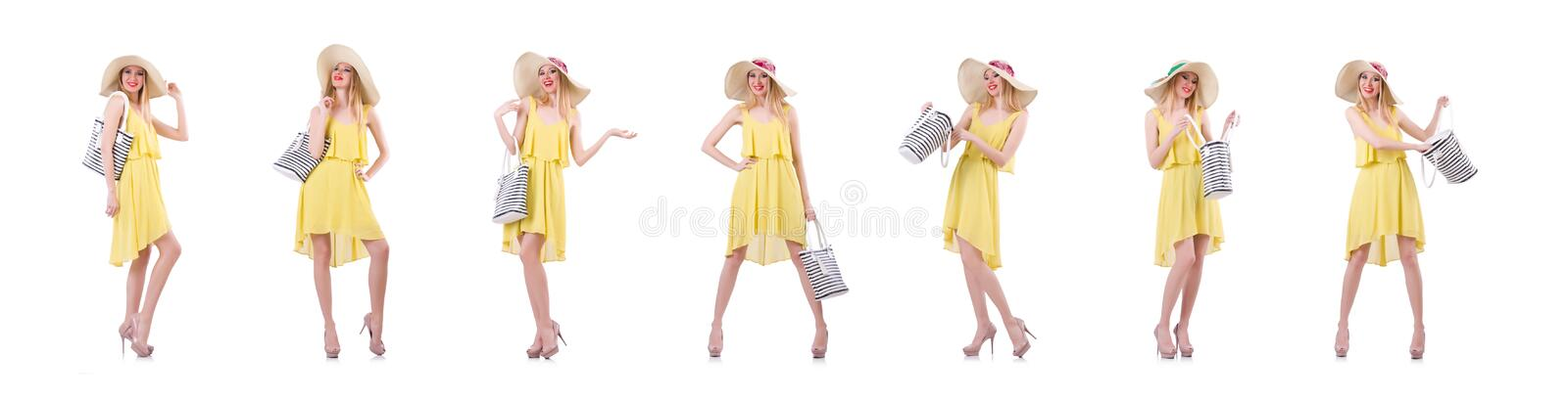 Young woman in summer clothing royalty free stock photo