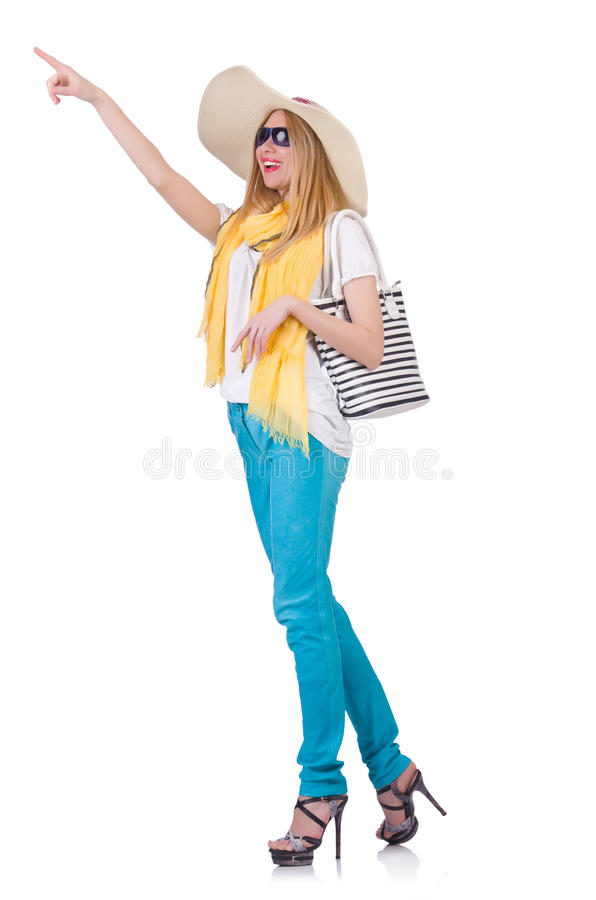 Download Young woman stock image. Image of clothing, panama, female - 31753519