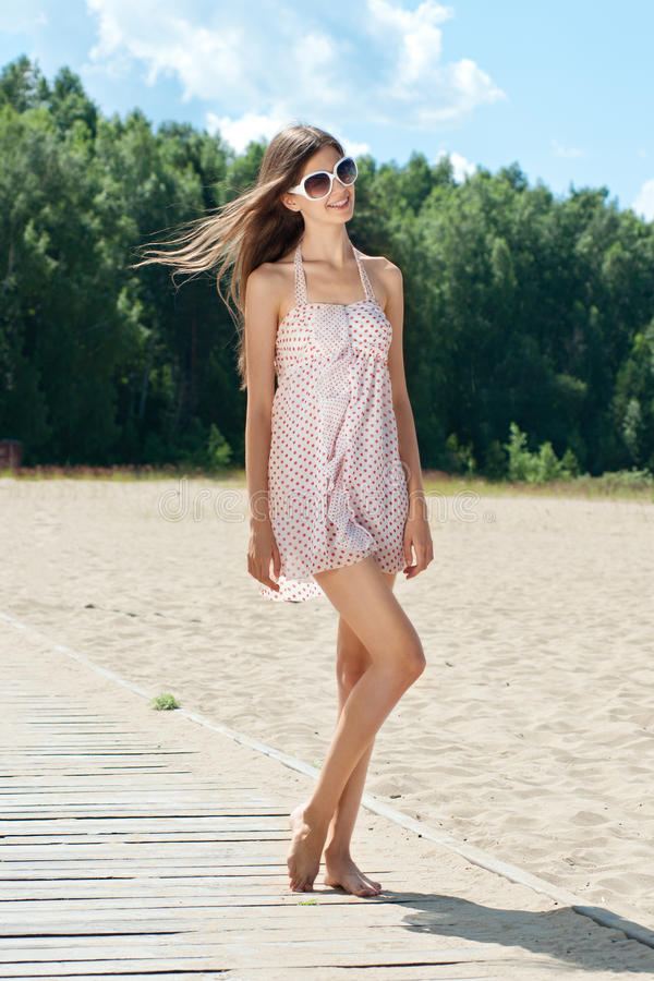 Download Young Woman In Summer Dress Stock Photo - Image: 20000732