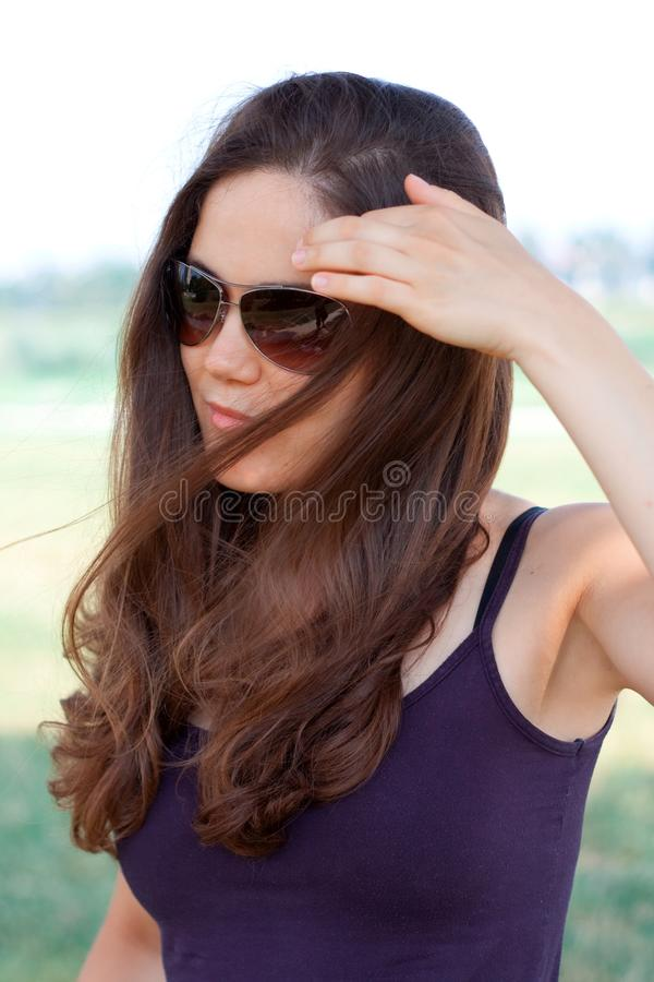 Download Young Woman With Sunglasses Stock Photo - Image: 15030402