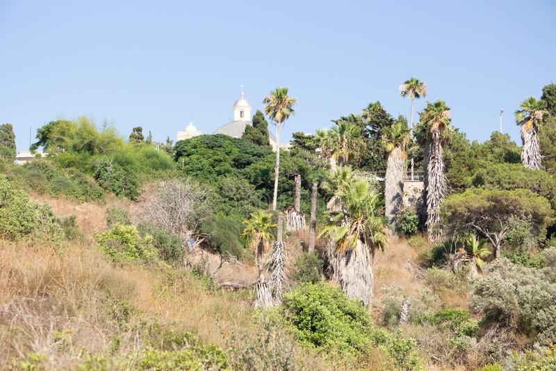 The Stella Maris Monastery located on the slopes of Mount Carmel in Haifa, Israel stock photos