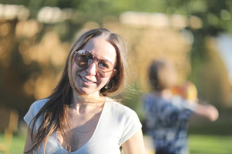 Young woman in sunglasses royalty free stock photo