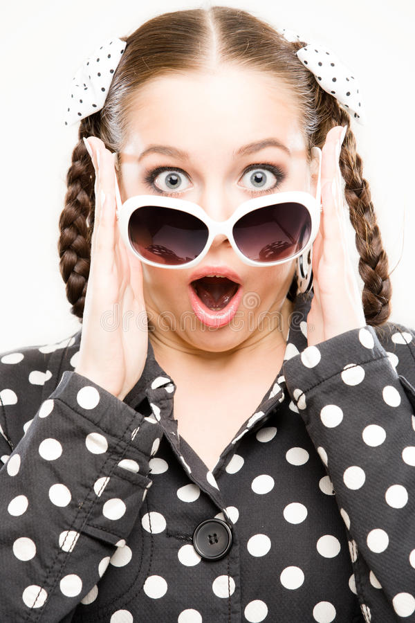 Download Young woman surprised stock image. Image of expression - 15990361