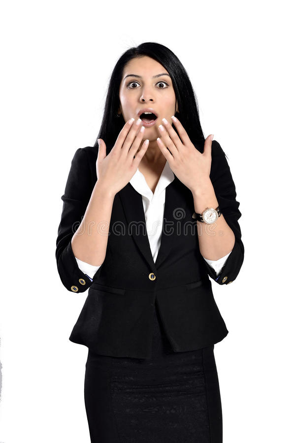 Young woman surprised stock images