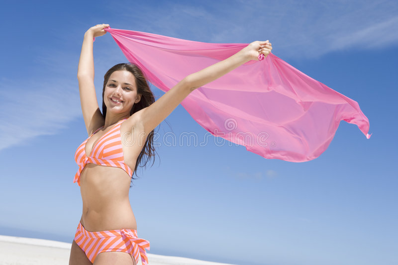 Download Young woman in swimwear stock image. Image of female, seaside - 5006875