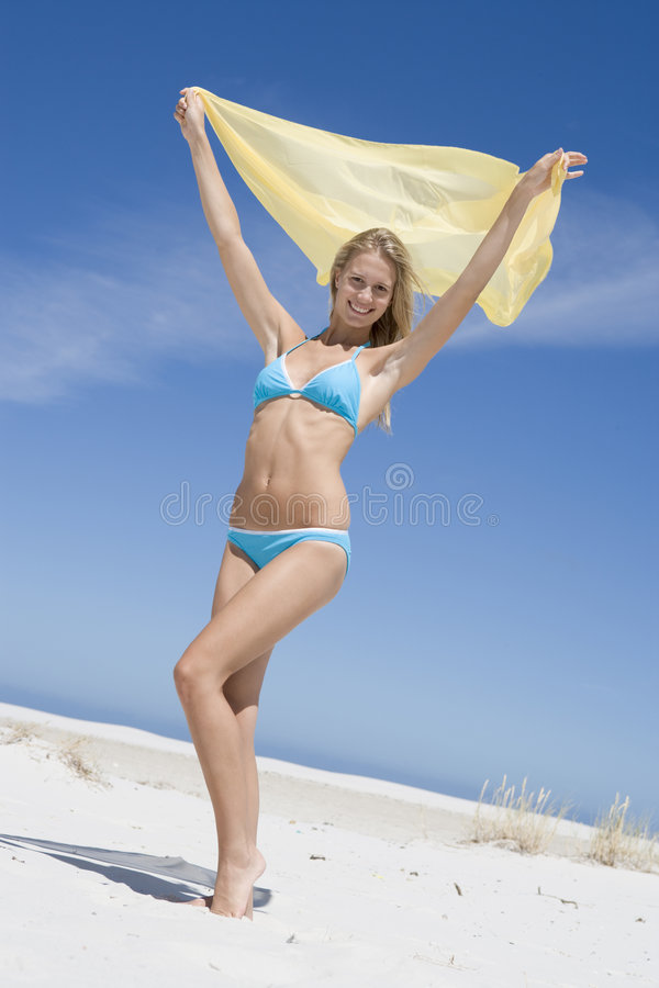 Download Young Woman In Swimwear At Beach Stock Photo - Image: 5009116