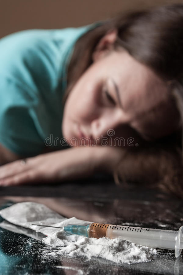Woman and heroin