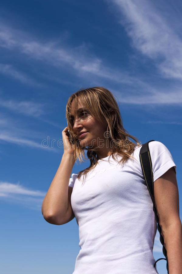 Download Young Woman Talking On A Cellphone Stock Photo - Image: 7767866