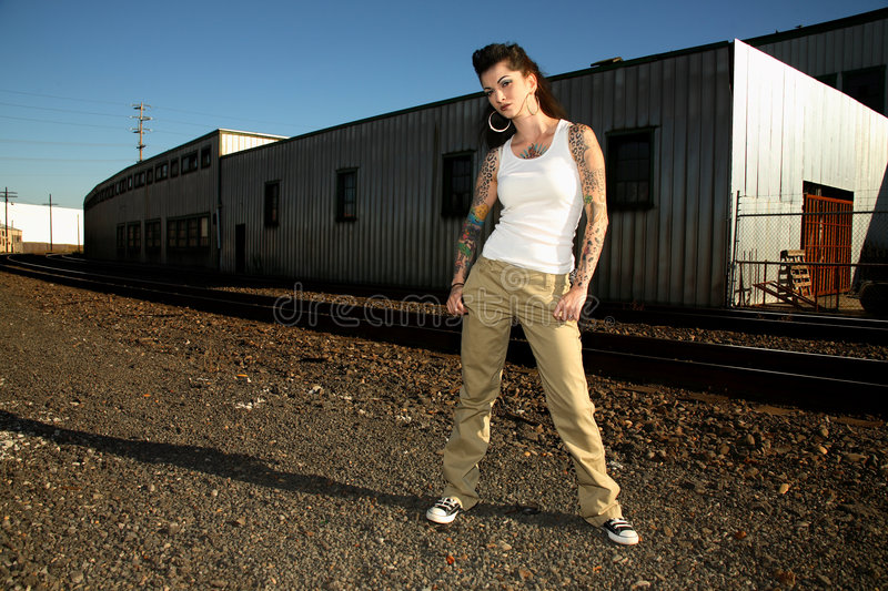 Download Young Woman With Tattoos Royalty Free Stock Photos - Image: 3713698