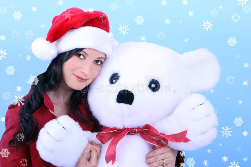 Download Young woman and teddy bear stock photo. Image of girl - 3638826