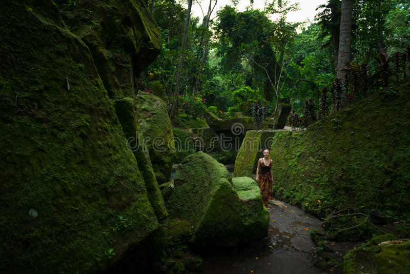 Download Young Woman Among Temple Ruins Stock Photo - Image: 31138376