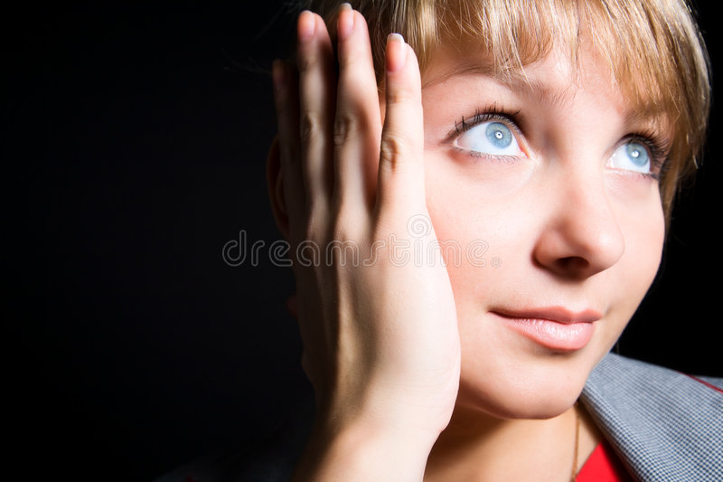 Young Woman Tender Portrait Stock Images