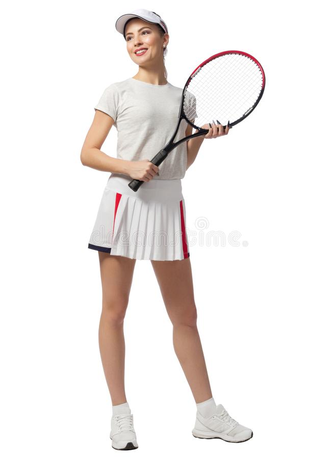 Young woman tennis player stock images