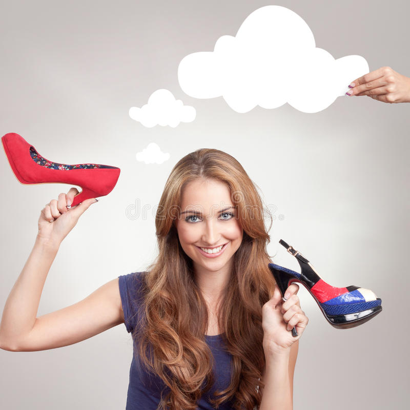 Download Shopping stock photo. Image of brunette, idea, cute, choice - 30054894