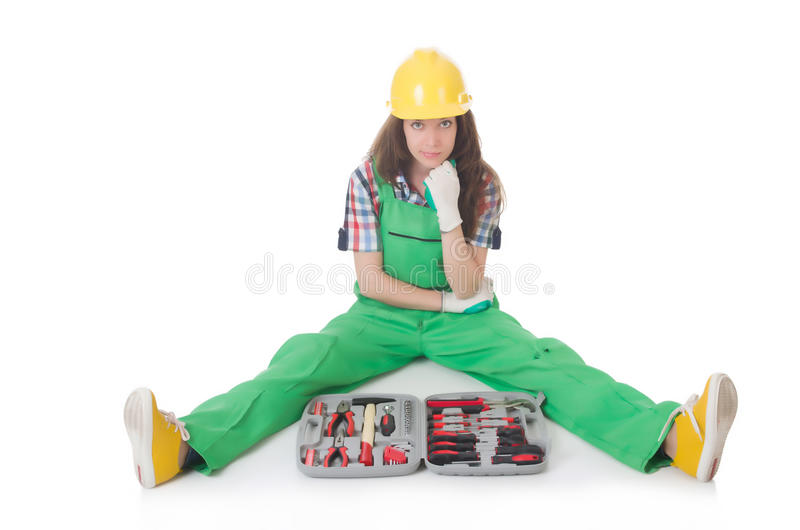 Download Young Woman With Toolkit Stock Photo - Image: 34869560
