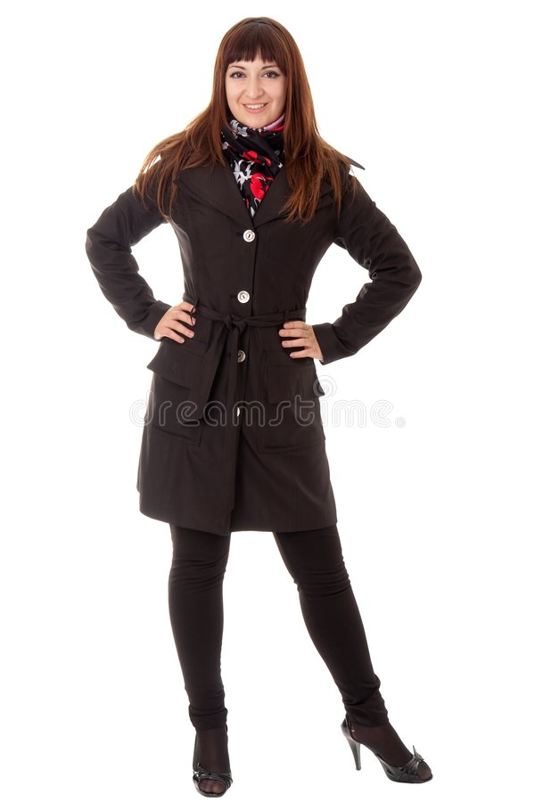 Download Young woman in topcoat stock image. Image of pretty, girl - 7132107