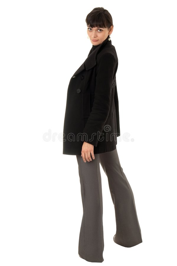 Download Young woman in topcoat stock photo. Image of natural, laughing - 7478016