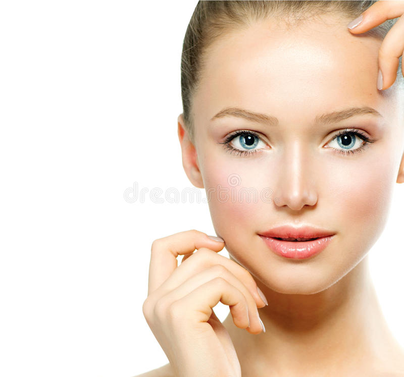 Download Young Woman Touching Her Face Stock Image - Image: 29256755