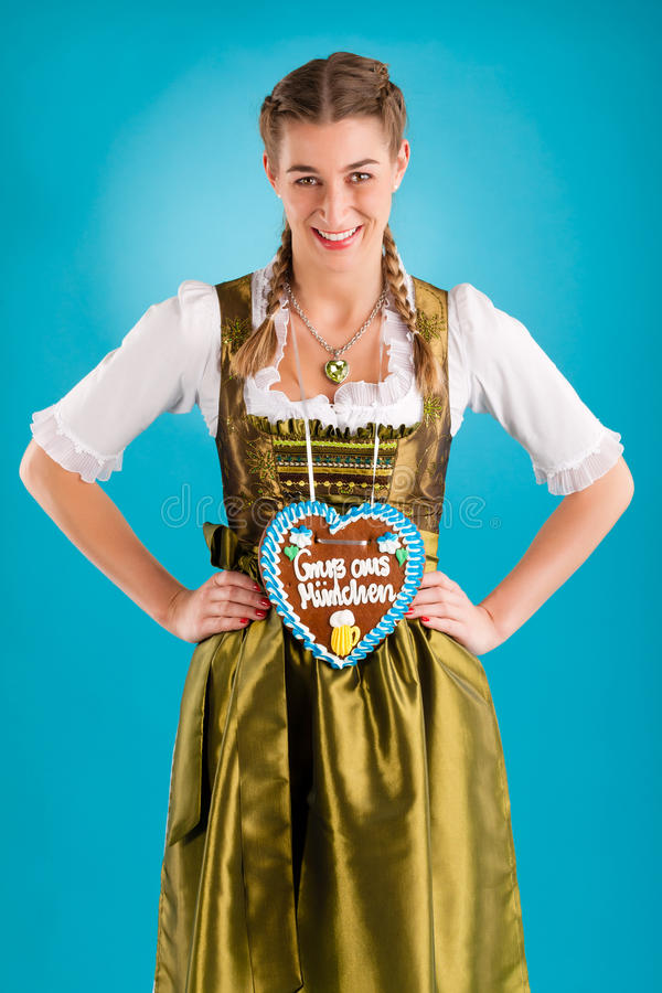 Download Young Woman In Traditional Clothes  Or Dirndl Stock Image - Image: 26486953