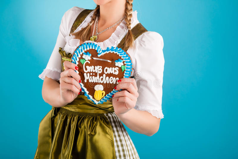 Download Young Woman In Traditional Clothes  Or Dirndl Stock Photo - Image: 26486956