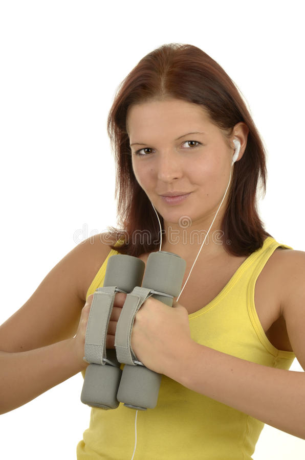Download Young woman in training stock image. Image of isolated - 25703673