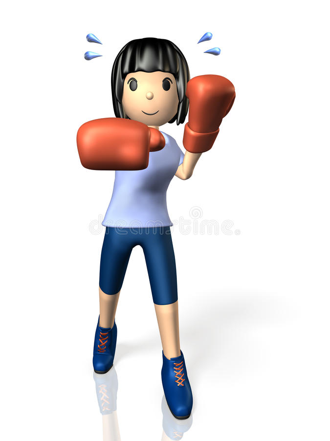 Download Young Woman Is In Training For Boxing. Royalty Free Stock Photography - Image: 32331537