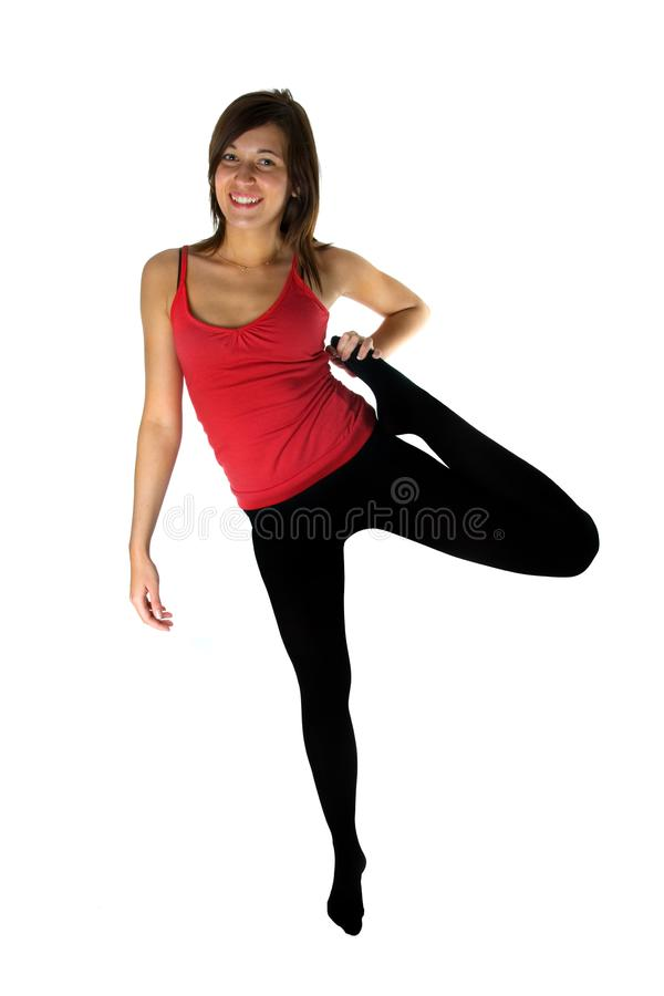 Young Woman Training Fitness Stock Photo